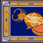 Southwest Scorpio Zodiac Tea Towel