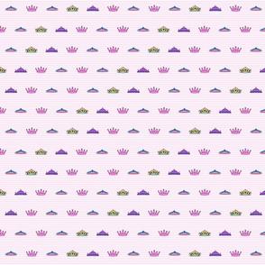 Princess mini crowns and stripes med Print size mariastar