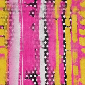 Wild grunge stripe dots verticle