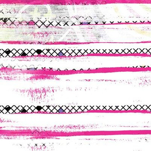 Grunge stripe pink black white