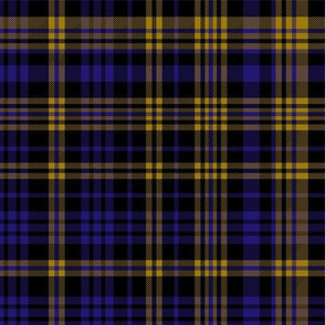 ravens plaid fabric - purple, gold, black - baltimore fabric, baltimore ravens