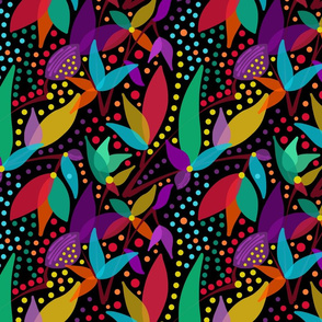 Fruits & Berries Abstract #1 Black, medium