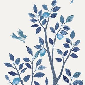 DELUXE SOFT BLUE LEMON TREE PANEL B