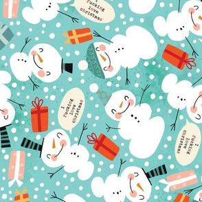Snowmen Fucking Love Christmas