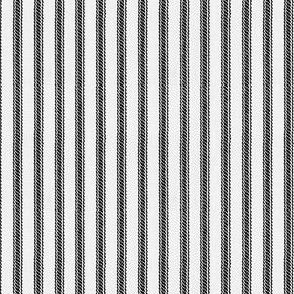 Ticking Stripes - Black & White