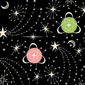Retro Star Field Fat Quarter