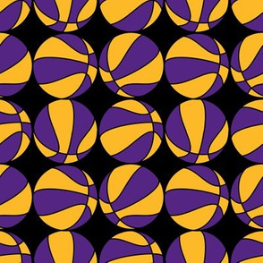 Basketballs In Black Purple and Gold