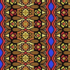 Bohemian Flower Stripe with Zigzag Borders 3