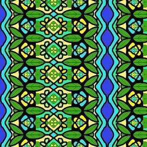 Bohemian Flower Stripe with Zigzag Borders 4