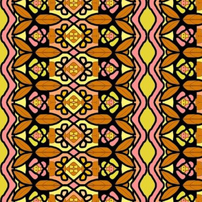 Bohemian Flower Stripe with Zigzag Borders 5