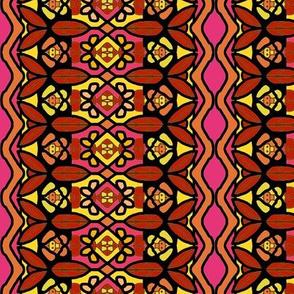 Bohemian Flower Stripe with Zigzag Borders 6