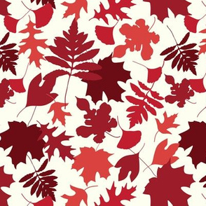 Autumn Leaves Tonal Reds