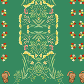 Floral and Cat Design