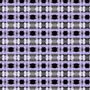 Purple and Black Tree Plaid in negative reverse color scheme