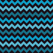 Halloween chevron black, blue Fabric