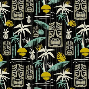 Island Tiki - Black Medium Scale