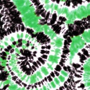 black and green tie dye C19BS