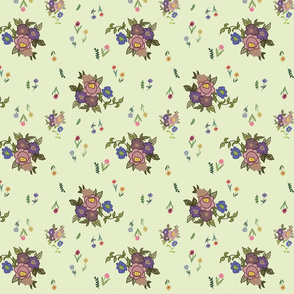 Granny's Garden Chintz - Mint Green, medium