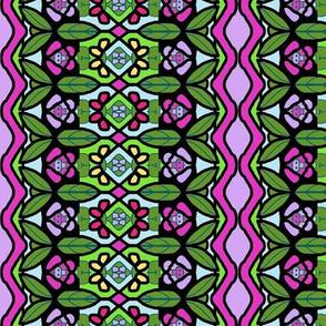 Bohemian Flower Stripe with Zigzag Borders 9