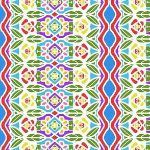 Bohemian Flower Stripe with Zigzag Borders 10