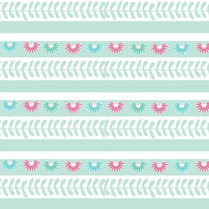 Aztec border - mint green