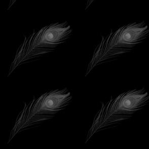metallic peacock feather
