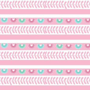 Aztec border - pink 2