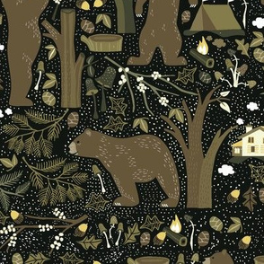 WOODLAND BEARS_BROWN