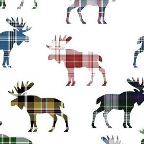 Plaid Moose I // Large