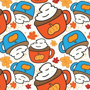 Pumpkin Spice Latte and Leaves