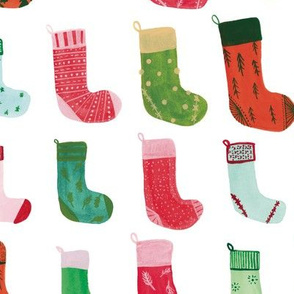 Charming Painted Christmas Stockings