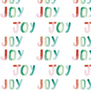 Hand Painted Joy Lettering
