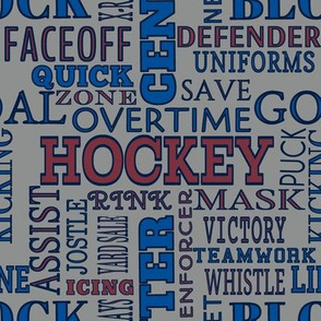 Winnipeg Jets Team Colors Hockey Terms Word Lettering Navy Blue Red Maroon Gray Silver White