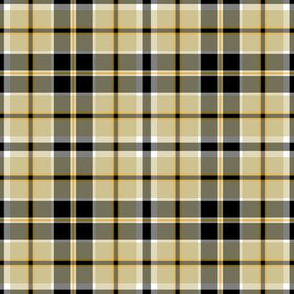 Pittsburgh Penguins Hockey Plaid Team Colors Black White Gold Yellow