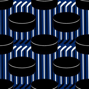Tampa Bay Lightning Hockey Team Colors Blue White Polka Dots Pucks Sticks Stripes