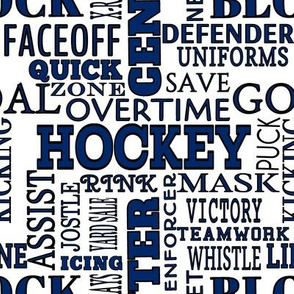 Tampa Bay Lightning Hockey Alphabet Team Colors Blue White Lettering Terms Words
