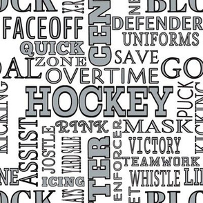 LA Los Angles Kings Hockey Alphabet Terms Words Lettering  Black Silver White Team Colors