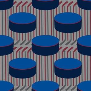 Winnipeg Jets Team Colors Hockey Puck Polka Dots Sticks Stripes Navy Blue Red Maroon Gray Silver White
