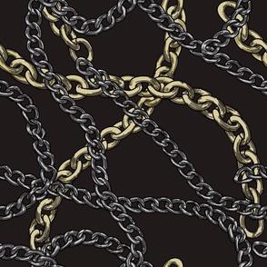 80s Baroque Chain Print