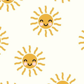 Sunshine - cute suns - cream - LAD19