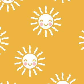 Sunshine - cute suns - golden yellow - LAD19