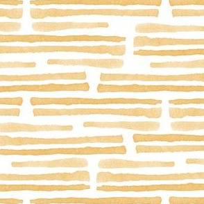 golden yellow - watercolor stripes - LAD19