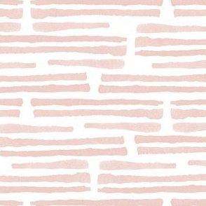 dusty pink - watercolor stripes - LAD19