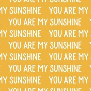You are my sunshine - yellow - LAD19