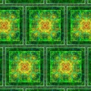Green Hibiscus Blanket