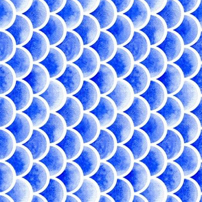 watercolor scales - french ultramarine blue 1 (vertical)