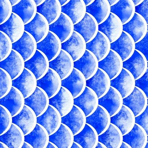 watercolor scales - french ultramarine blue 2 (vertical)