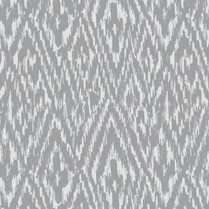 Diamond Ikat Texture- Grey