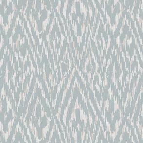 Diamond Ikat Texture- Light Teal and Grey
