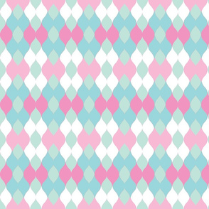 Argyle knit 306 - sea   strawberry  mint green mist sorbet-ch-ch-ch-ch-ch-ch-ch